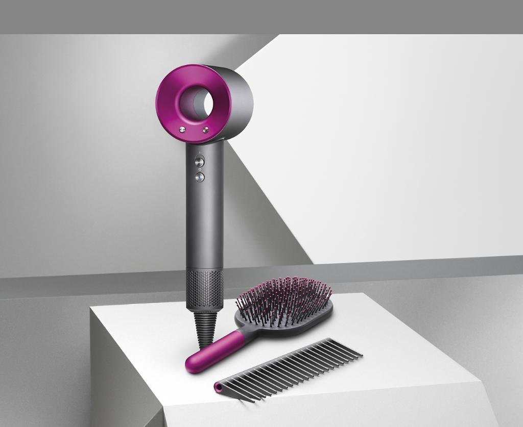 Dyson Supersonic Iron Fuchsia With Paddle Brush And Detangling Comb