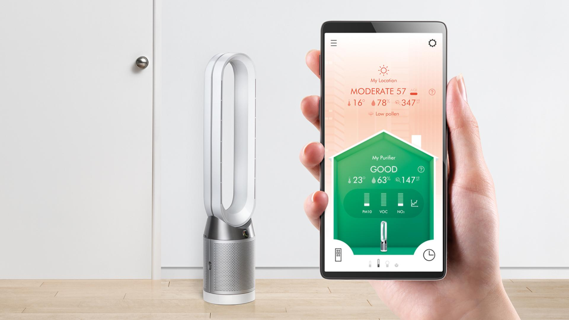 Dyson Link app on smart phone screen