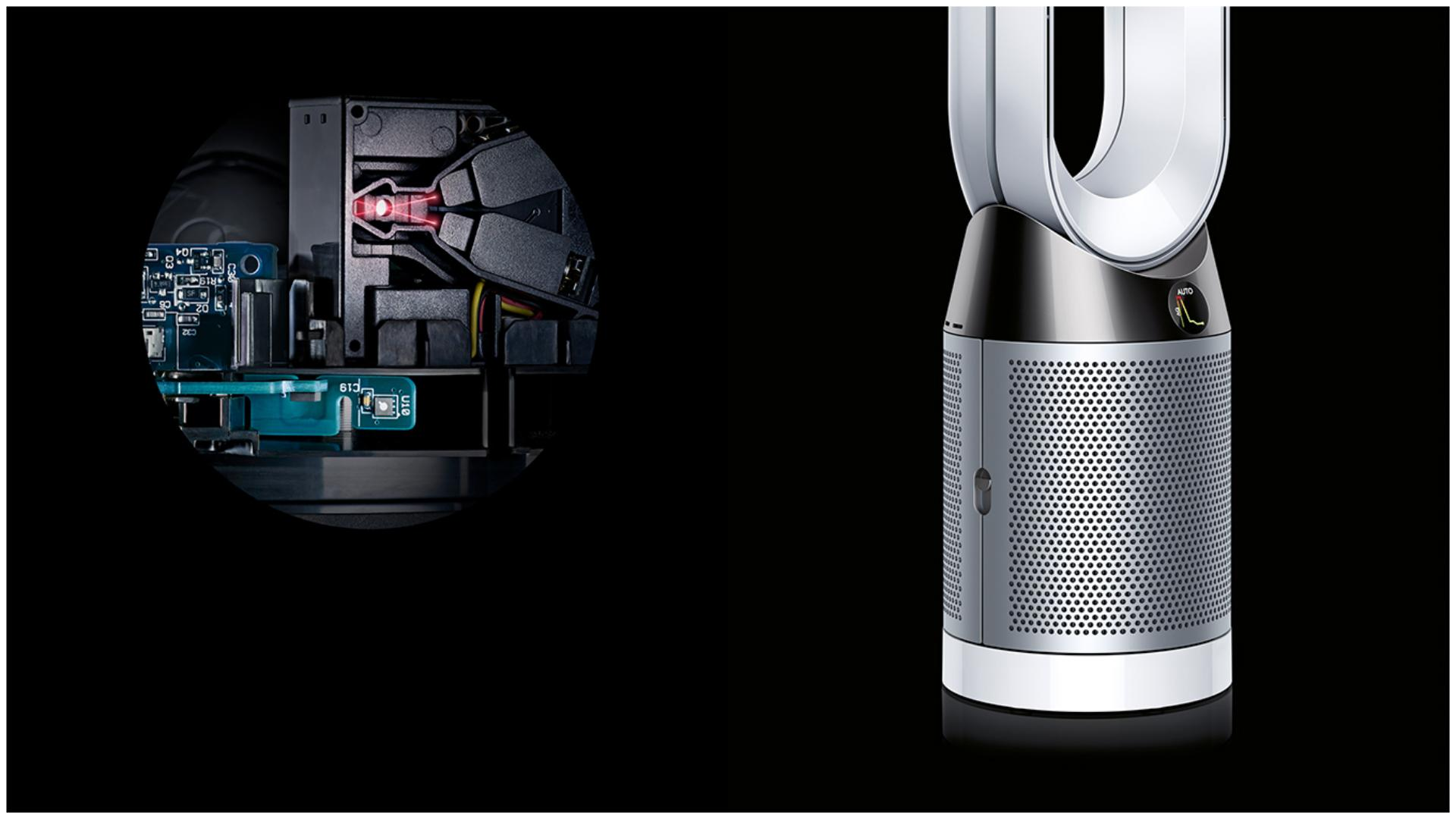 X-ray of the technology inside the Dyson Pure Cool purifying fan