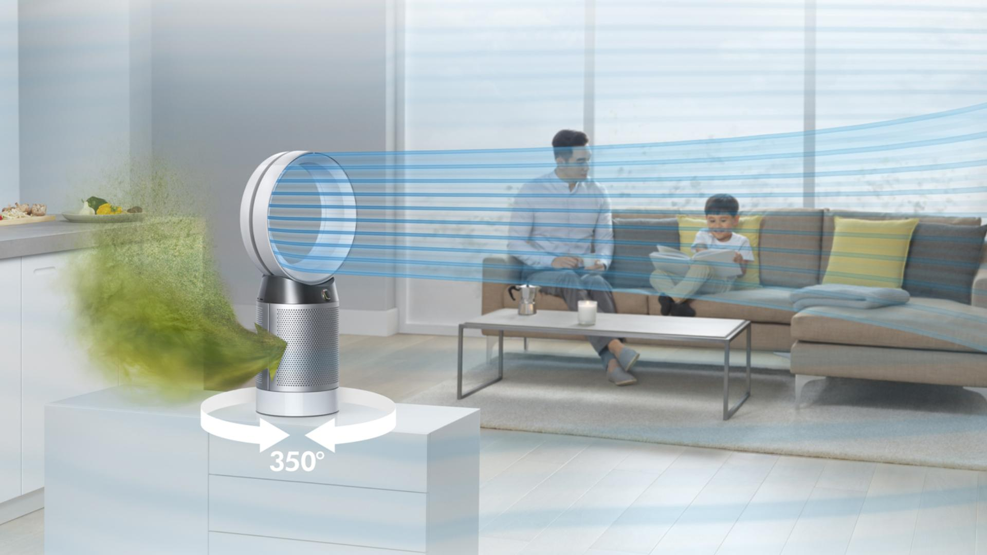 Dyson Pure Cool purifier in office space
