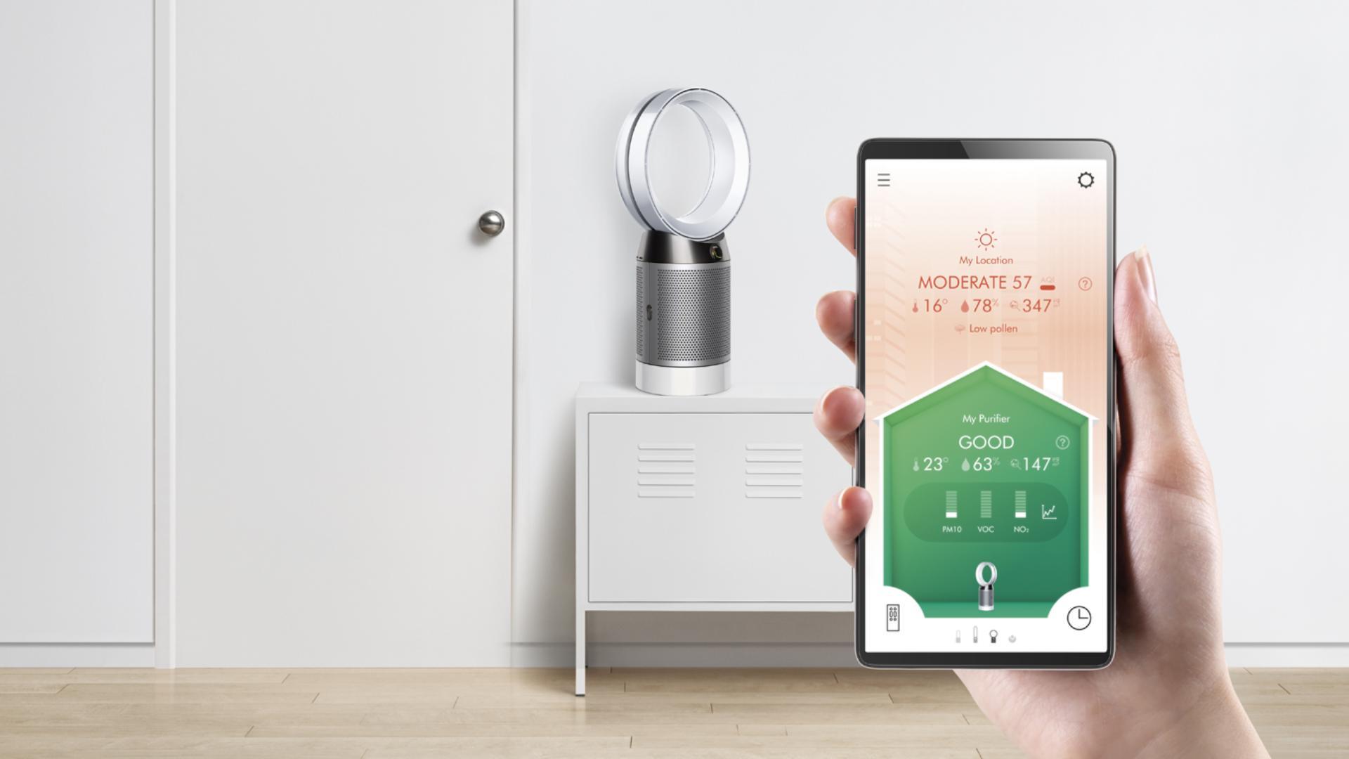 Dyson Link app on smart phone screen