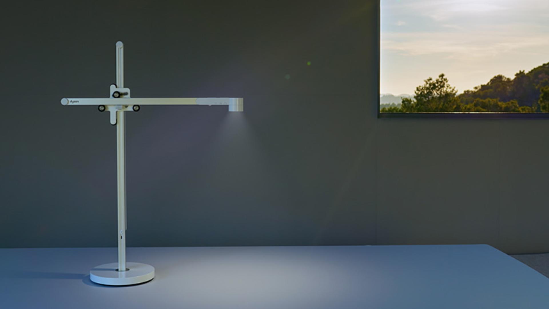 Dyson Lightcycle task light on a desk