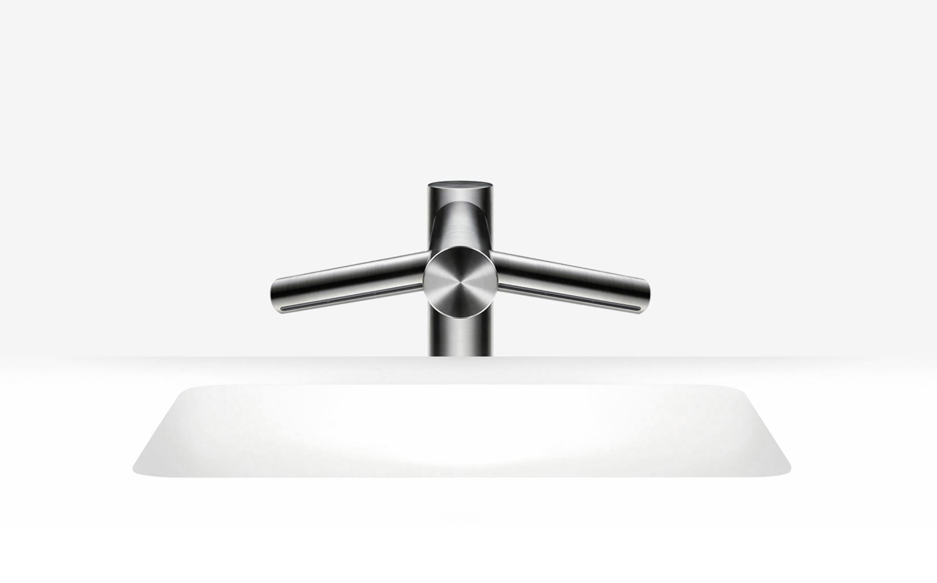 Dyson Airblade wash and dry tap short