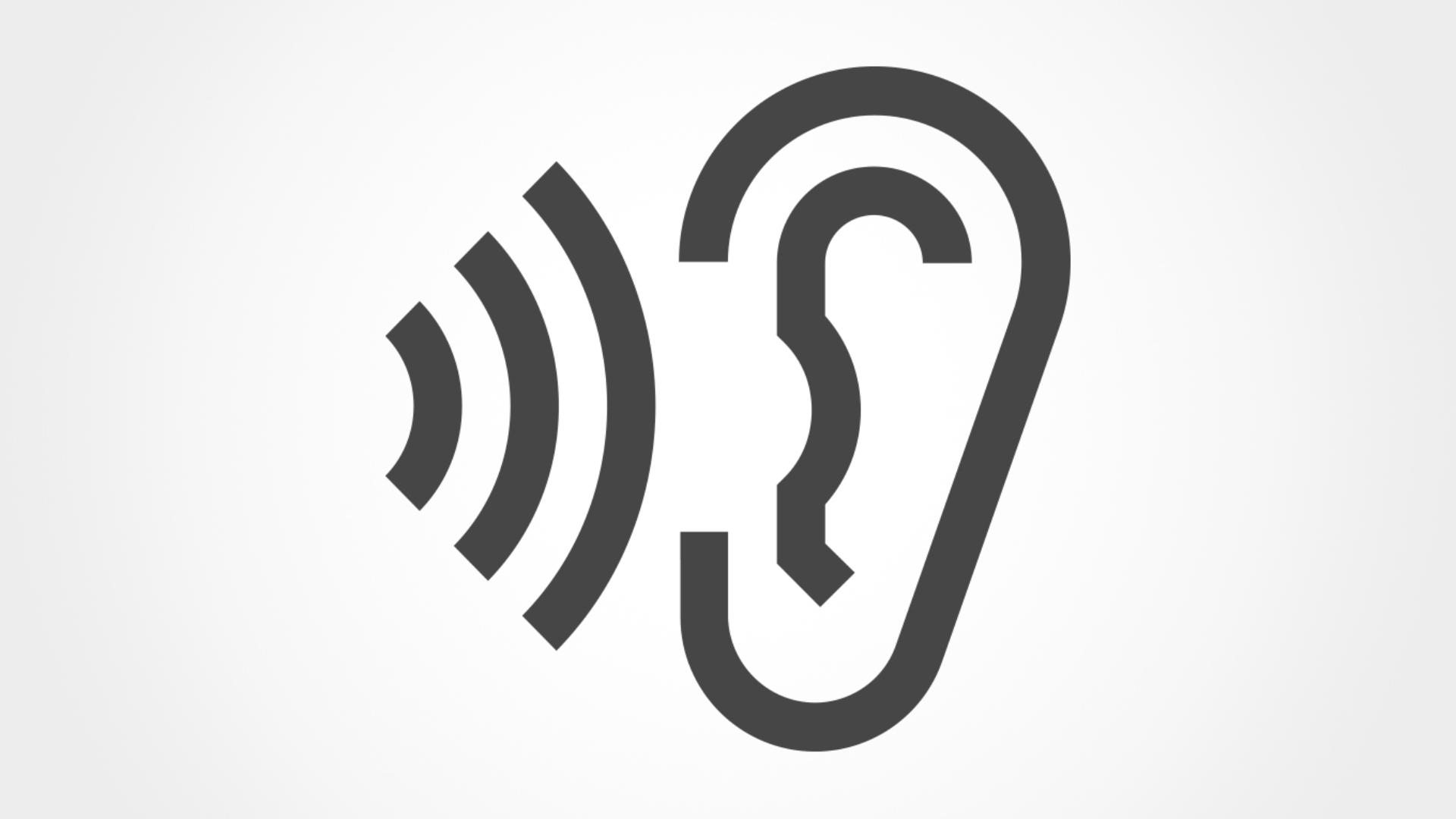 Ear depicting quieter sound levels