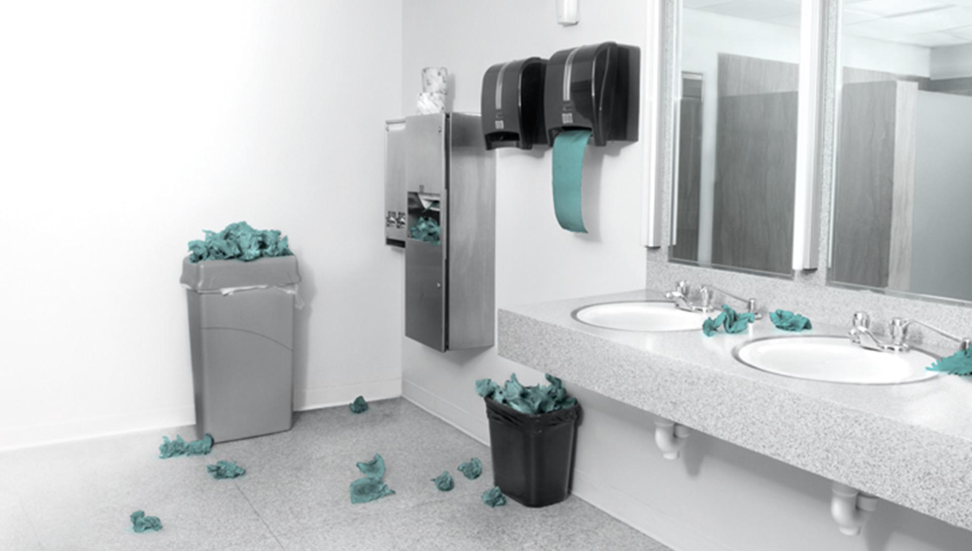 Piszkos mosdóhelység
