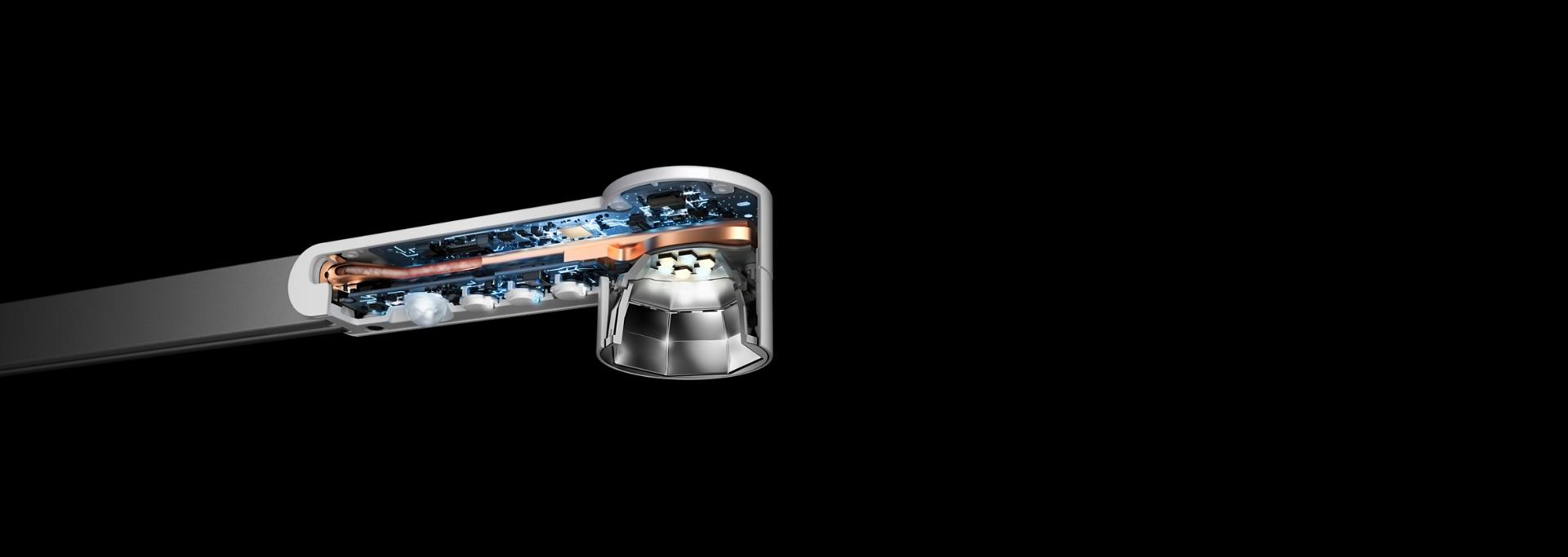 Dyson Lightcycle technology cutaway