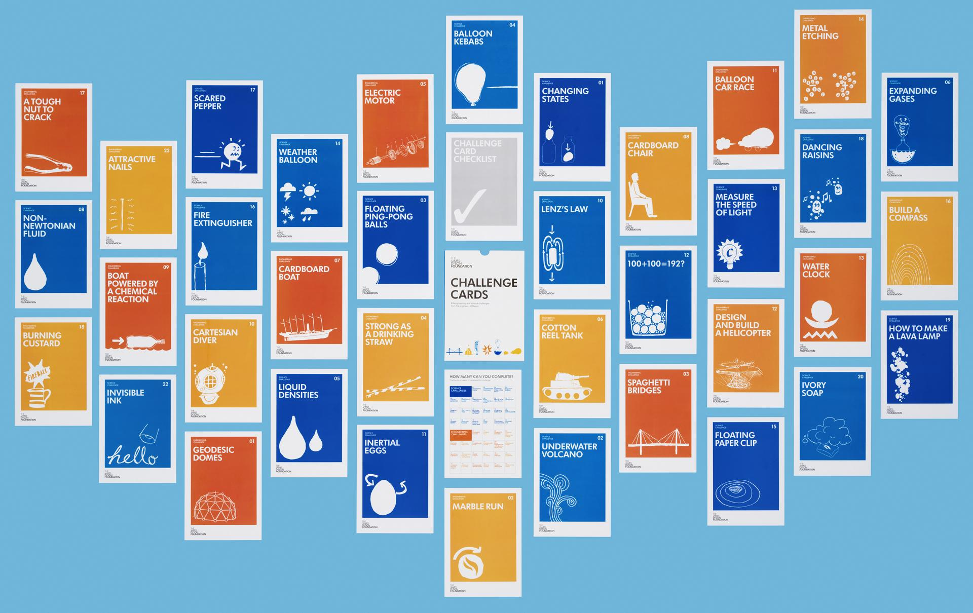 Jame Dyson Foundation Challenge Cards