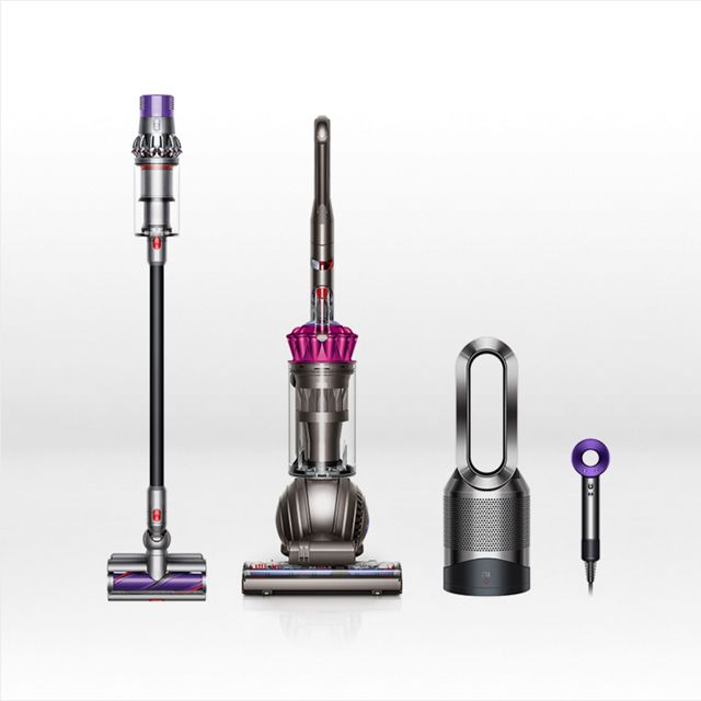 Dyson vacuum cleaners, hair dryers and stylers, fans