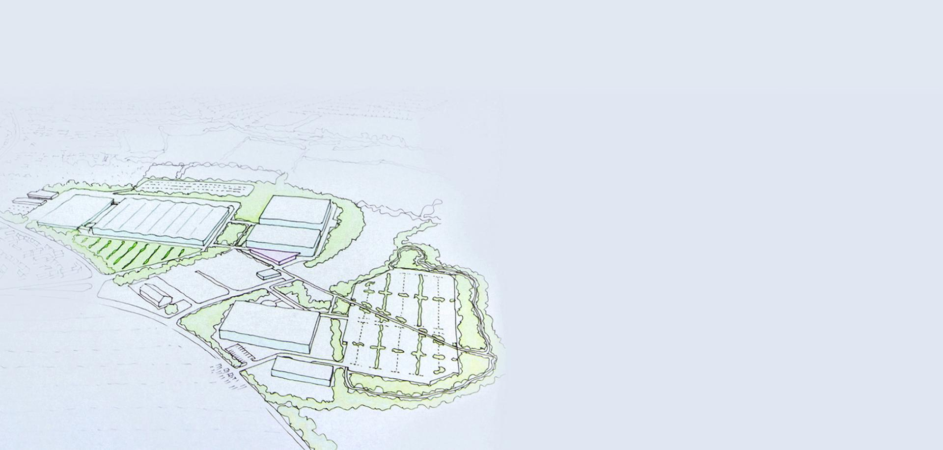Sketch of Dyson campus