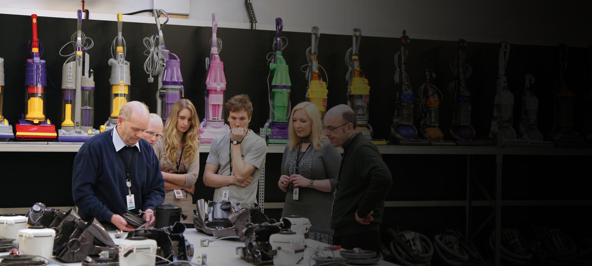 Dyson employees learning about our technology
