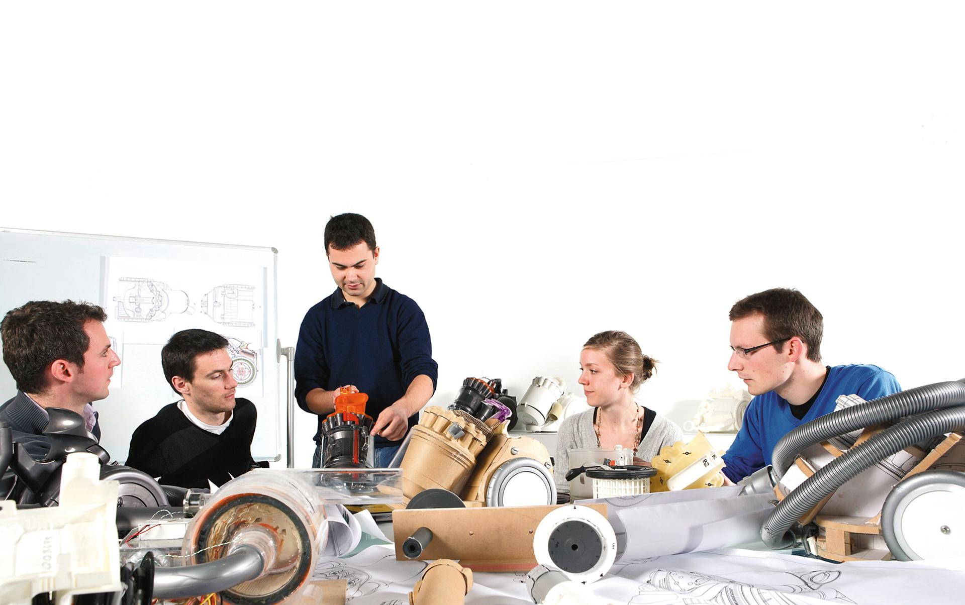 Engineering students with Dyson