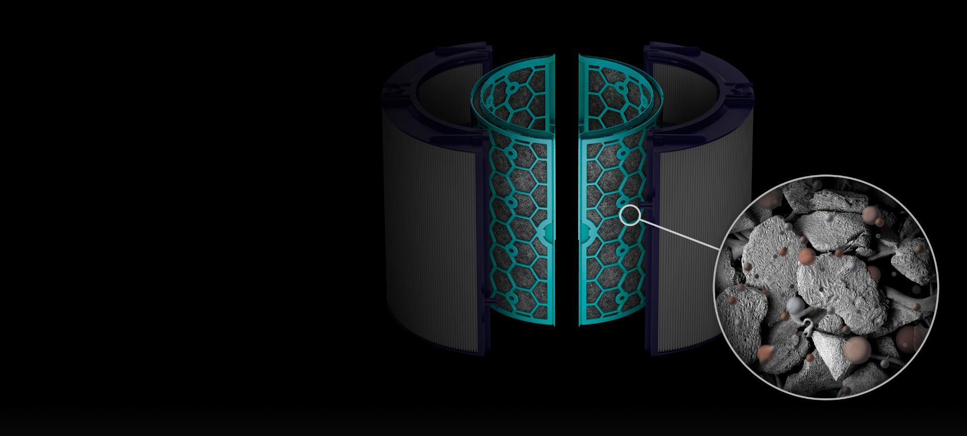 ภาพซูมเม็ดคาร์บอนเล็กๆ ที่เคลือบด้วย TRIS