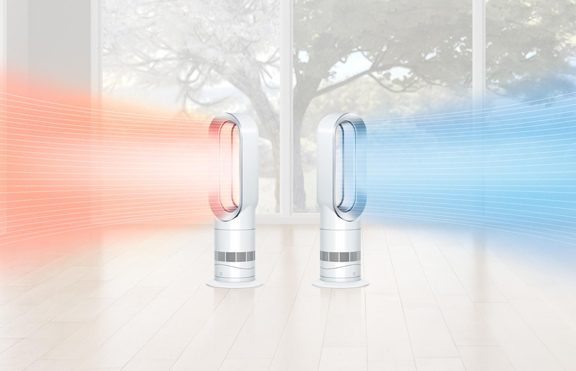 Two Dyson Hot+Cool™ fan heaters