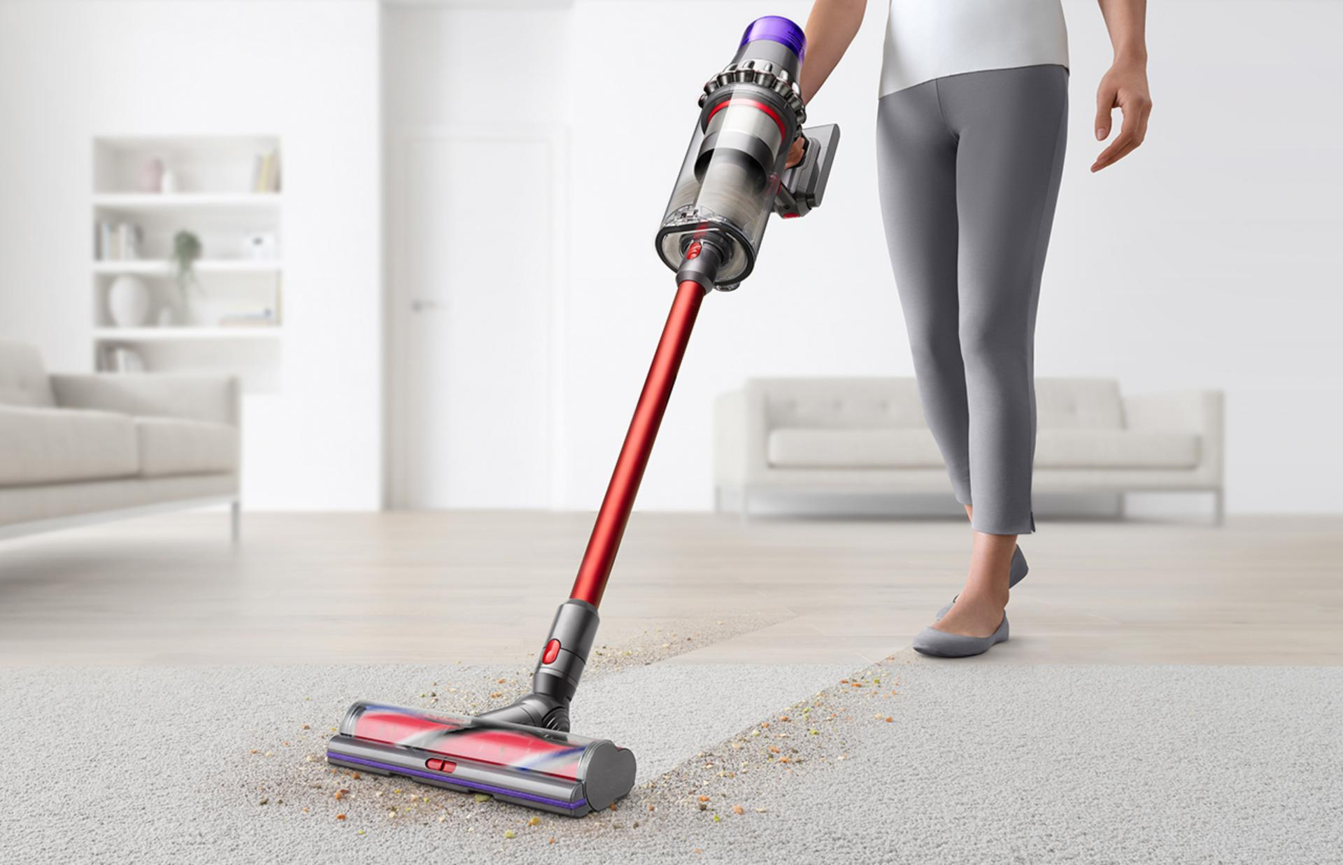 Dyson Outsize being used on carpet