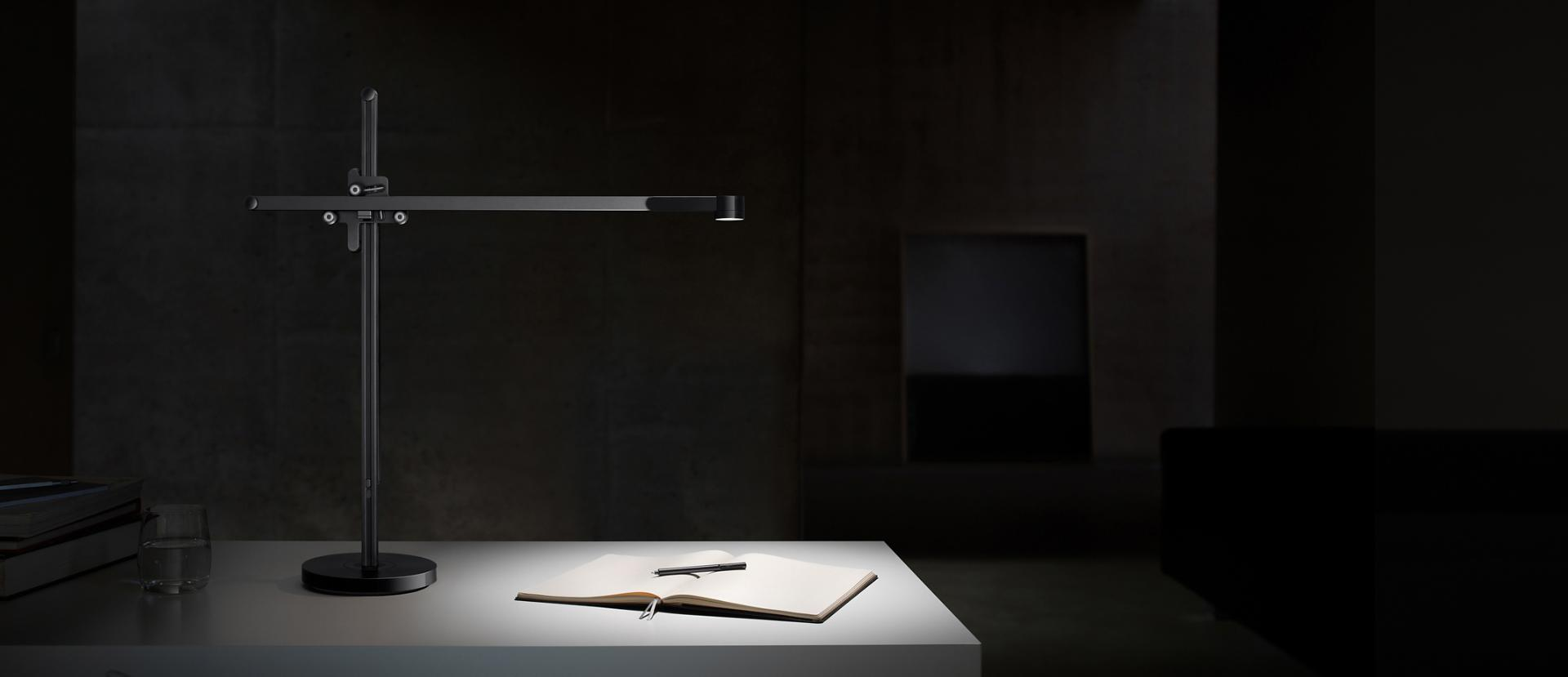 Powerful light from a Dyson CSYS task light shining on a desk