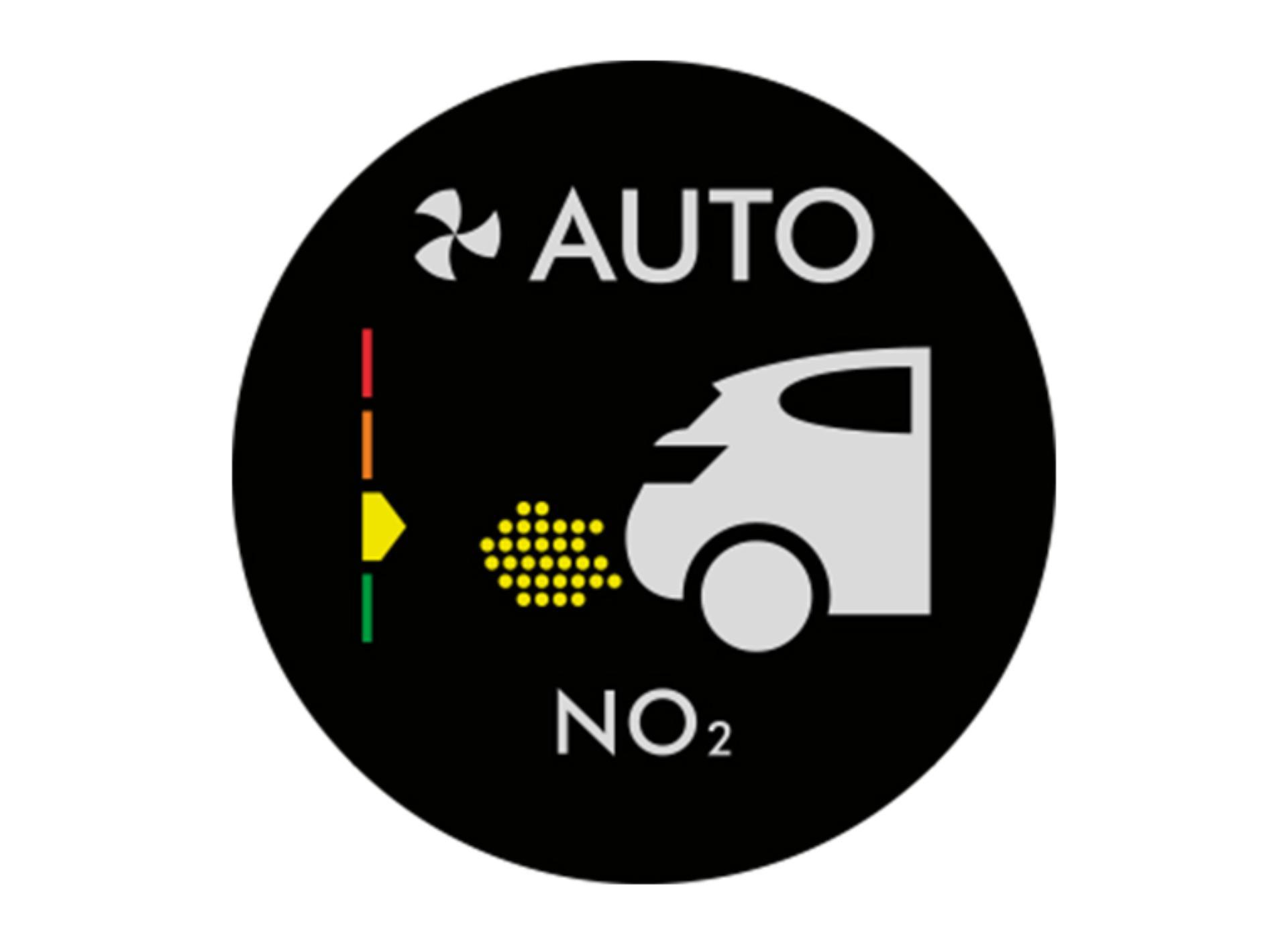 Gépkocsi kibocsátást mutató ábra