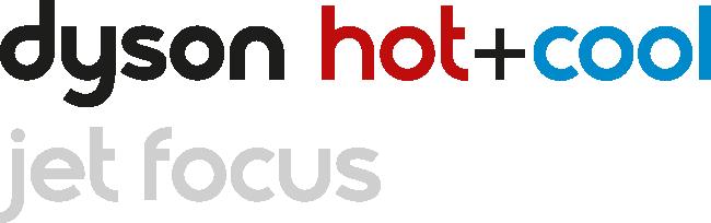 Dyson Hot+Cool värmefläkt med logo för jet focus control