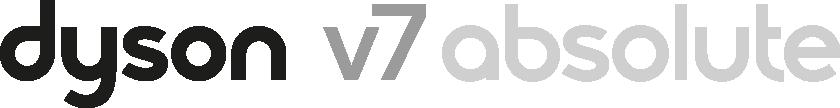 Dyson V7 absolute black vacuum logo