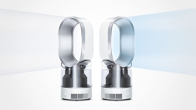 Two Dyson humidifiers omitting cool air