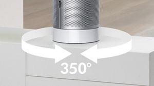 Dyson Pure Cool desk oscillates up to 350 degrees