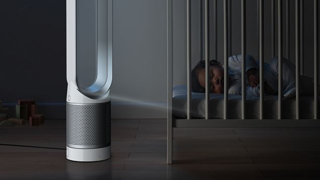 Night-time mode on tower purifying fan