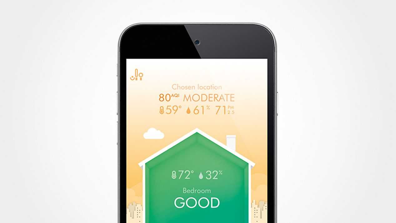 automatically monitors air quality