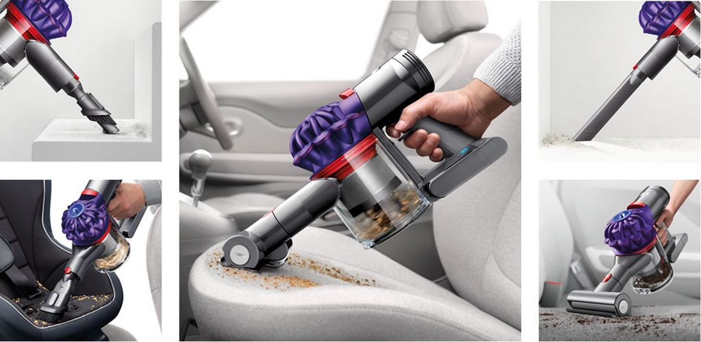 Dyson V7 Trigger Car Boat Handheld Vacuum Cleaner In Use