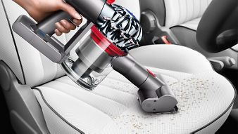 Dyson V7 Trigger Handheld Vacuum Cleaner Mini Motorized Tool Cleaning Inside Car