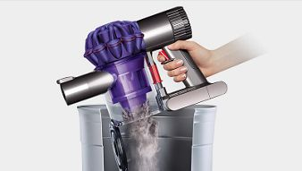 Dyson bin emptying mechanism