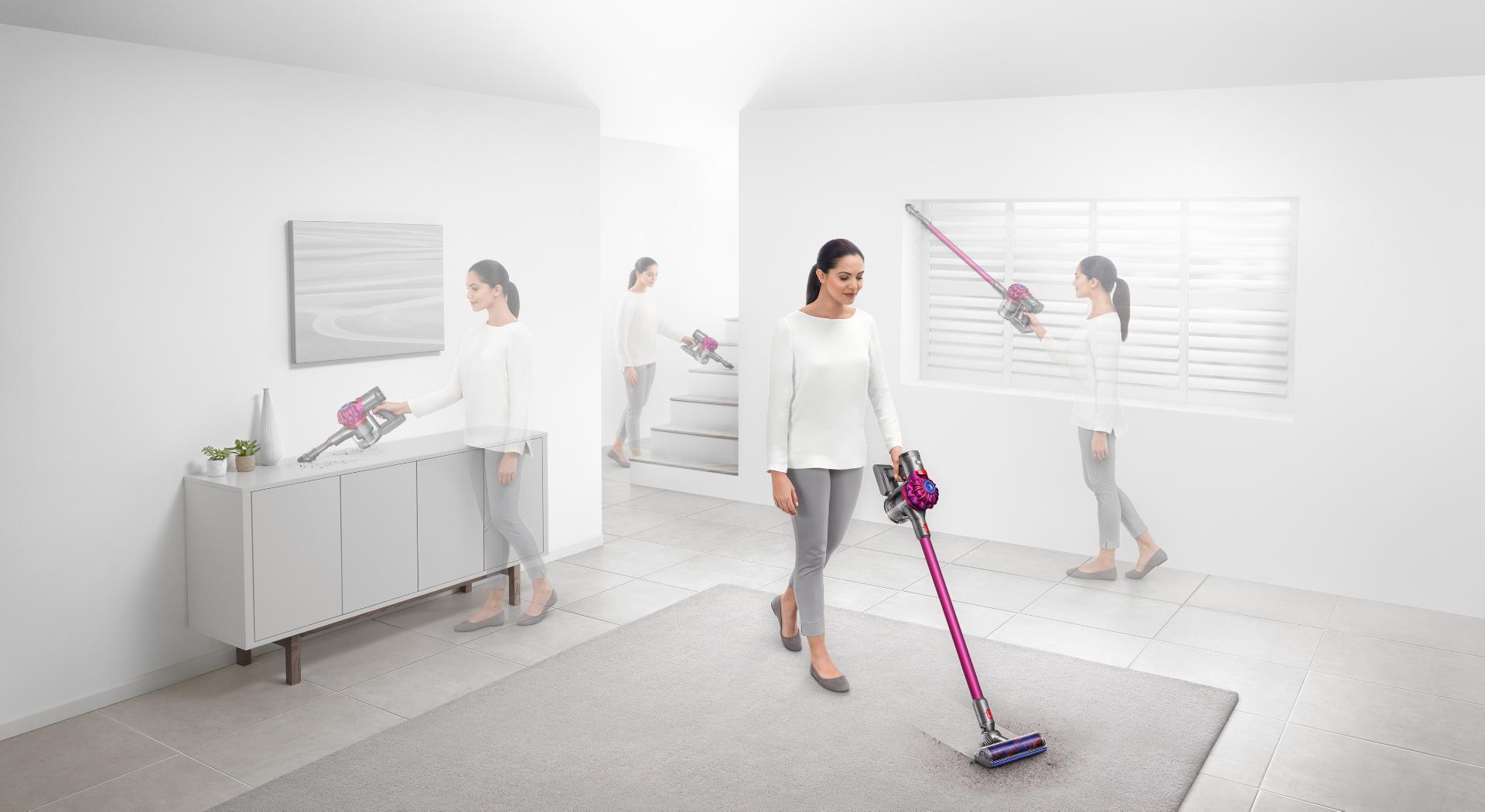 Model using Dyson cord-free vacuum