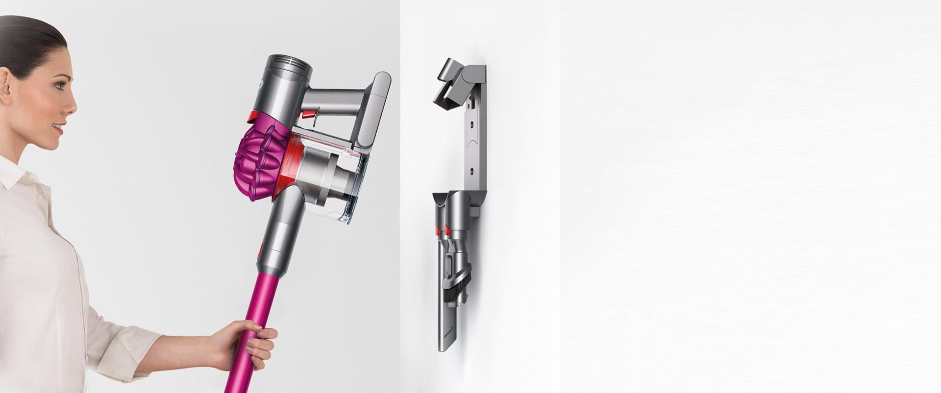 Dyson vacuum wall-mounted dock