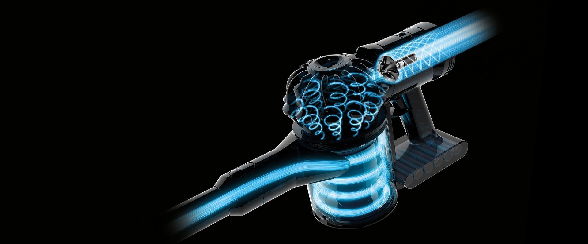 Dyson V7™ vacuum airflow schematic