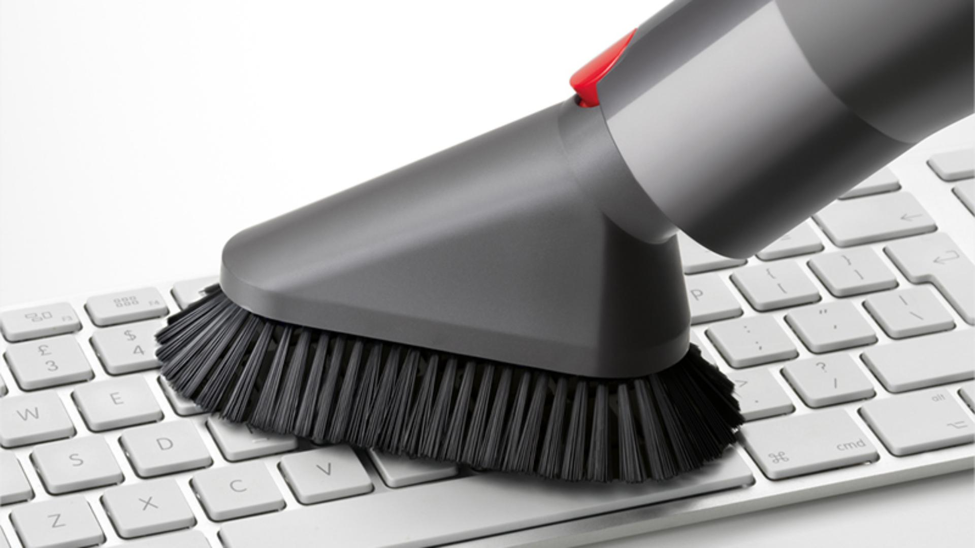 Using Dyson soft dusting brush