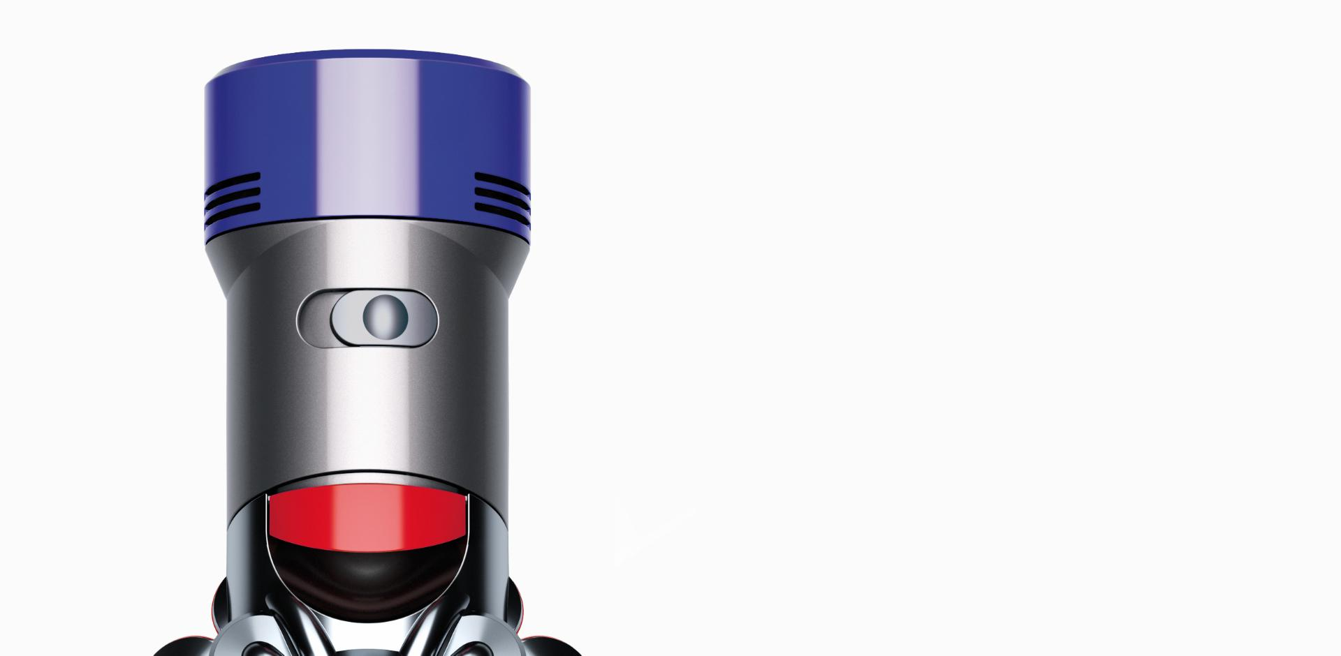 Close up of the Dyson V8 cord-free vacuum's two power modes