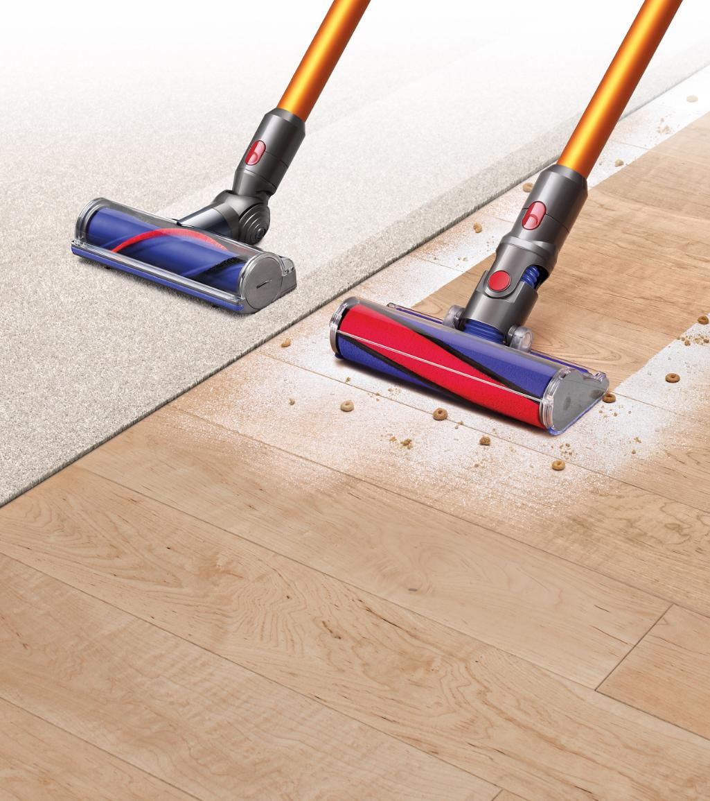 Dyson V8 Vacuums On Carpet And Hard Flooring