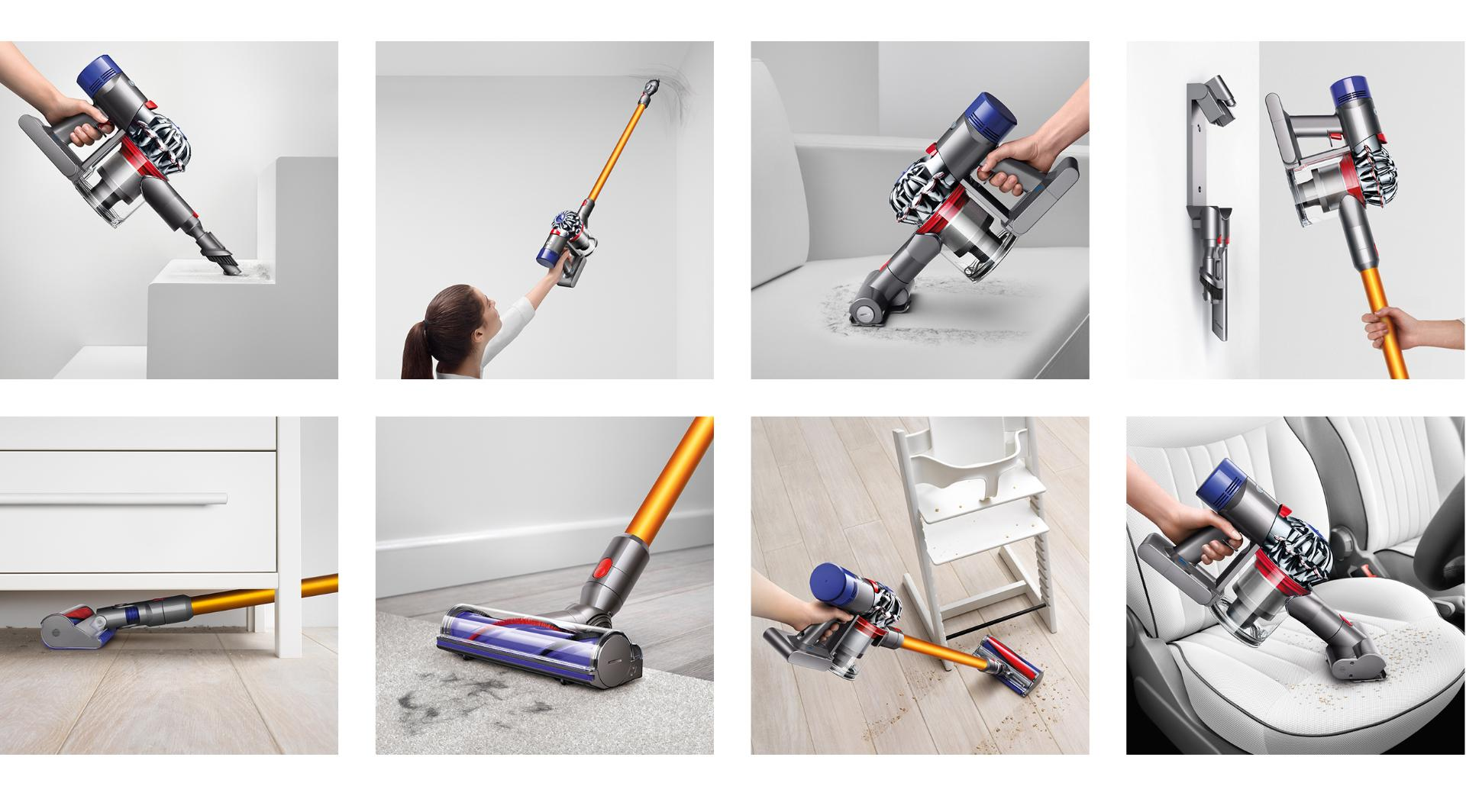 Play the video: See how to clean with the Dyson V8 vacuum cleaner