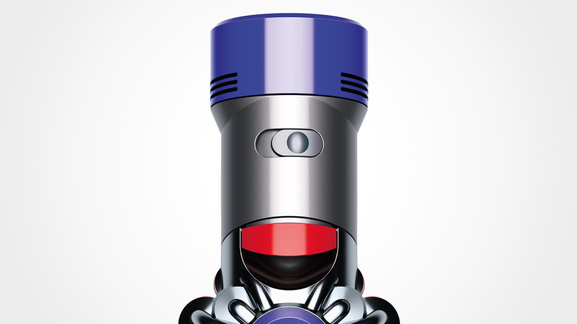 Close-up of Dyson V8 Absolute vacuum power mode switch