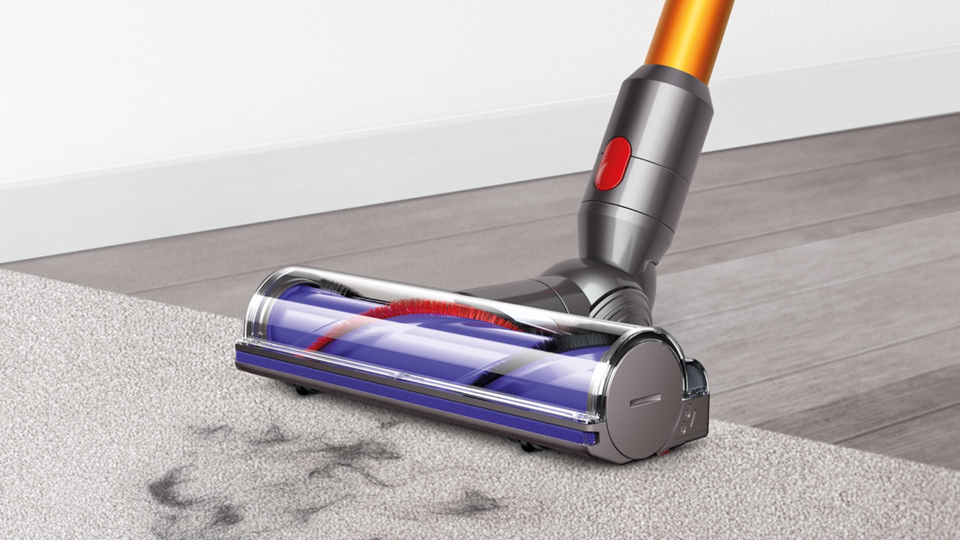 Close up of Dyson direct drive cleaner head.