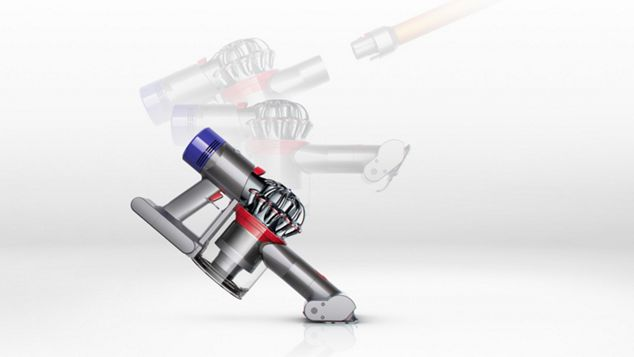 The Dyson V8 Absolute transforms to a handheld in one click.