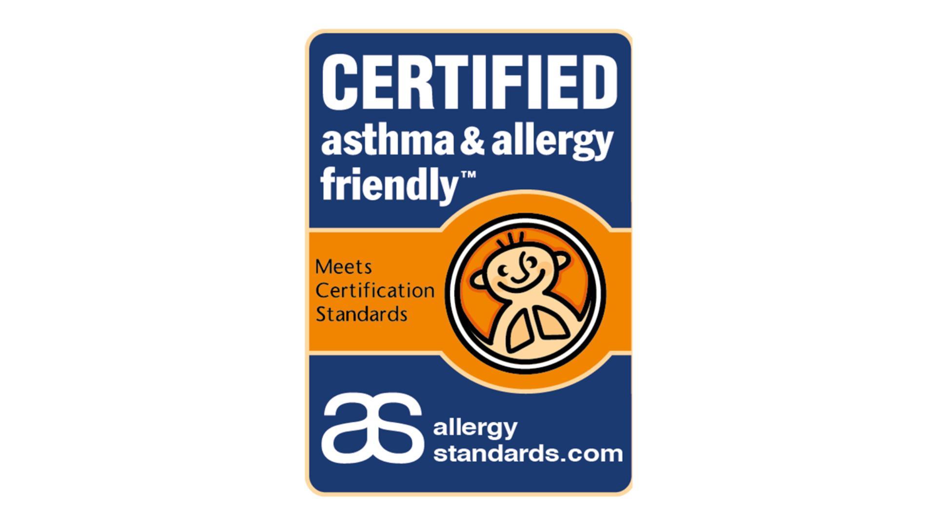 Certificatul Fundației pentru Astm și Alergie.