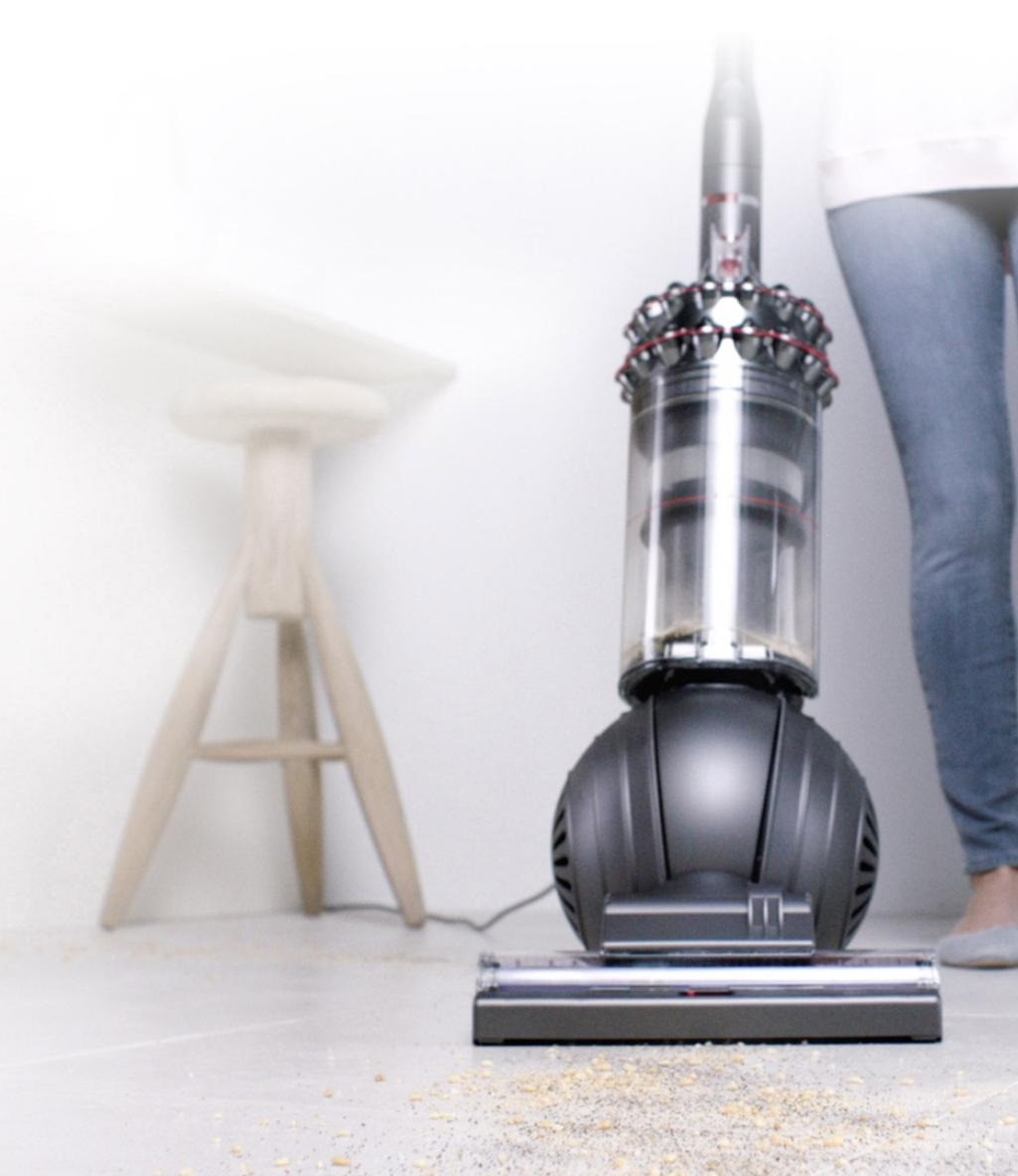Dyson upright vacuum cleaners.