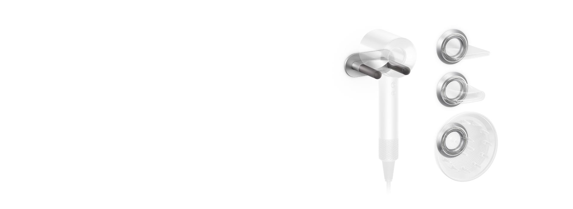 Dyson Supersonic™ hair dryer Wall cradle and magnetic attachment docks