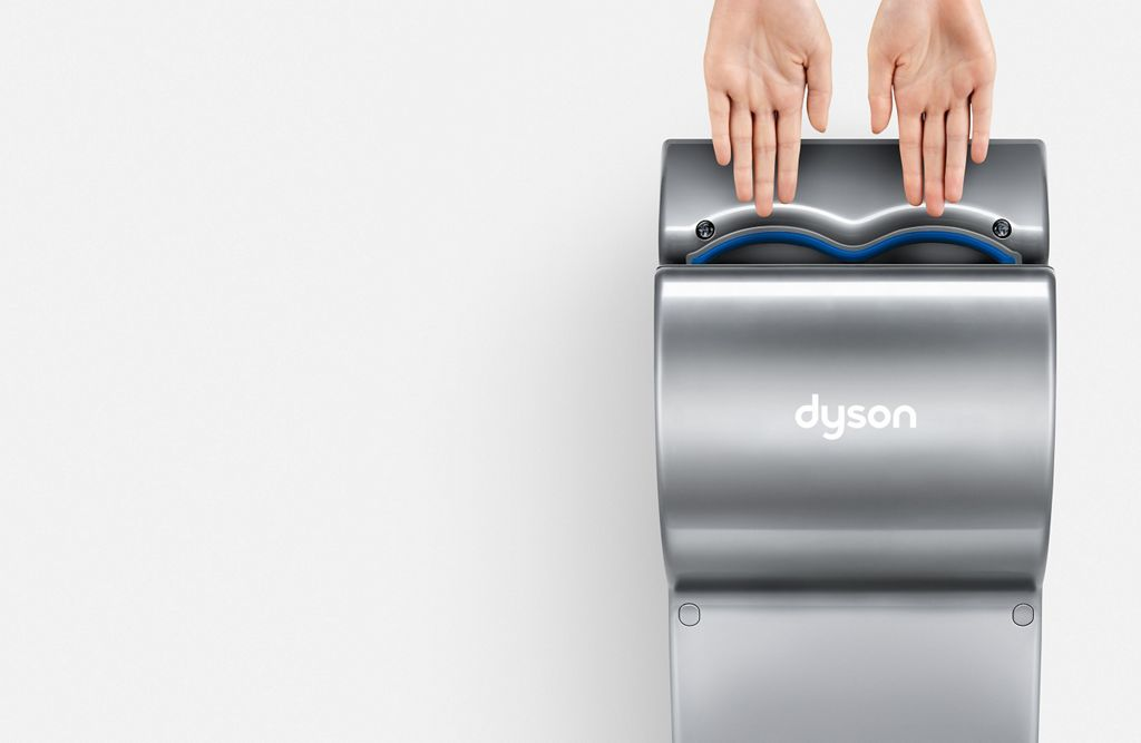 hands in dyson airblade db hand dryer - Dyson Hand Dryer