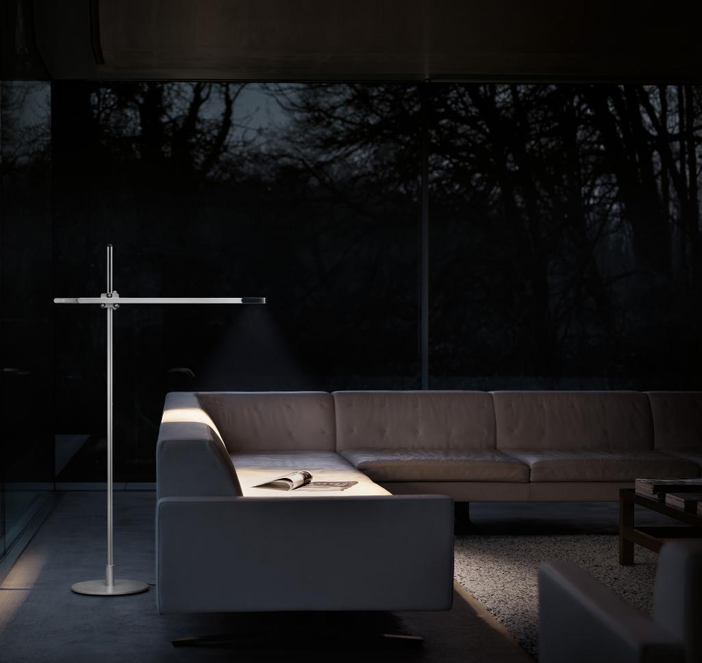 Dyson Lamp Over Sofa
