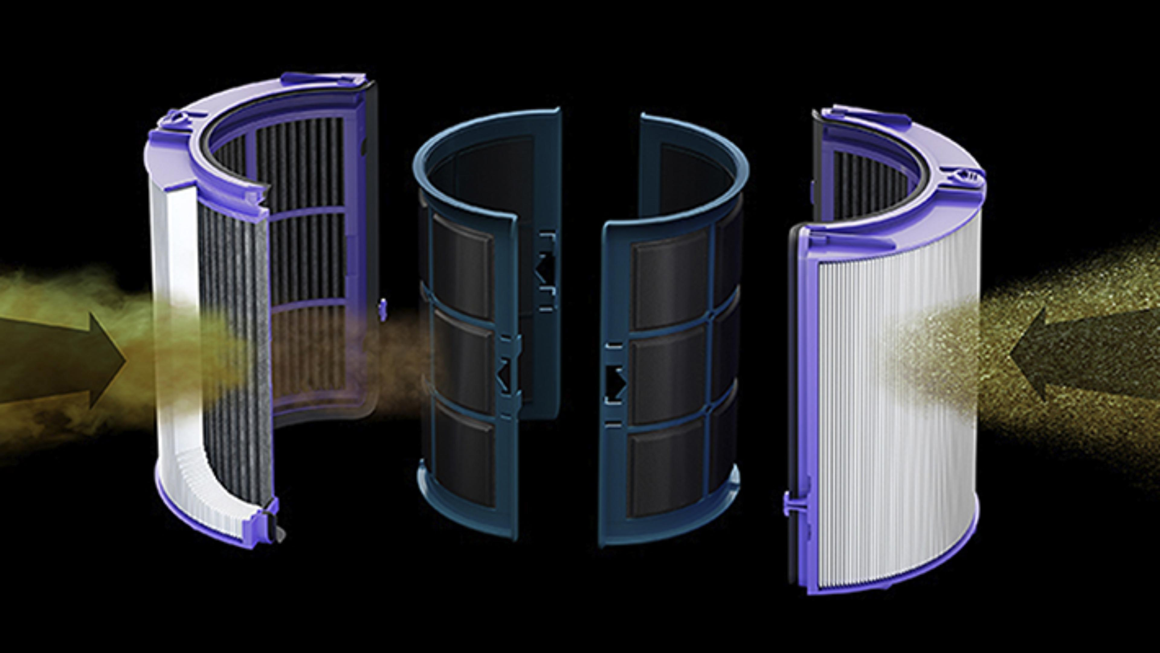Glass hepa filter removes small pollutants
