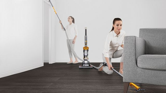 Instant release high reach wand on vacuum cleaner