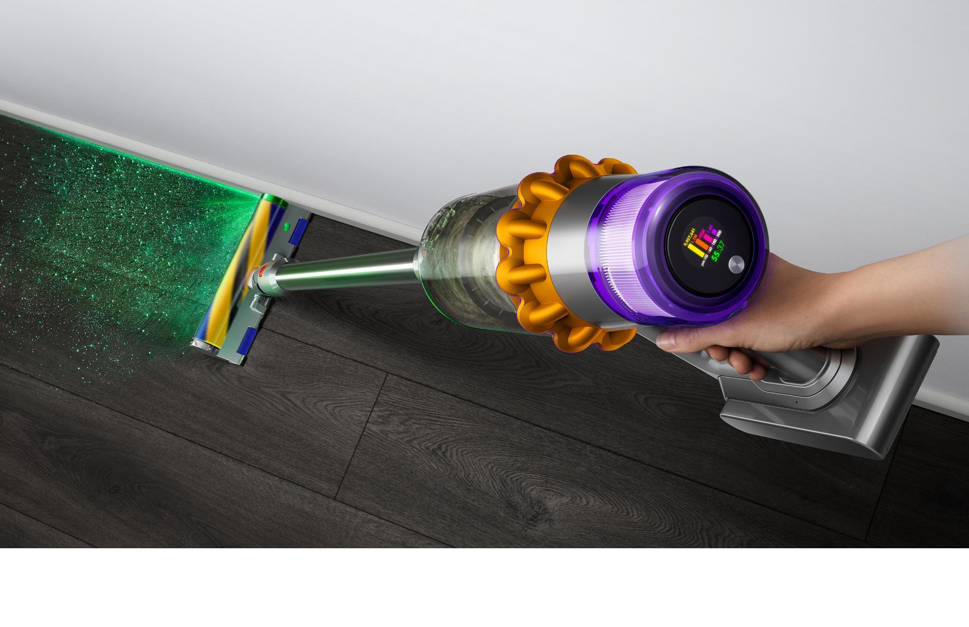 Dyson V15 vaccuum laser