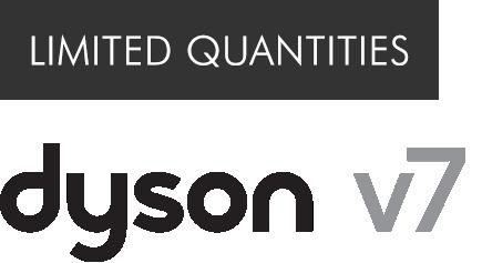 Limited quantities dyson v7 logo