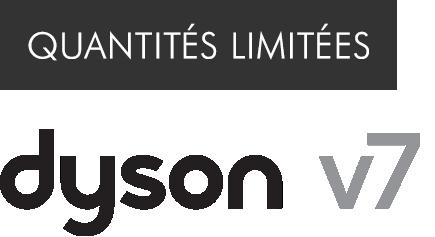 Logo Dyson v7 en quantités limitées