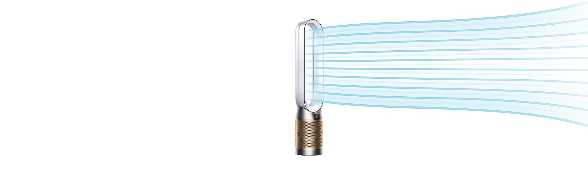 Dyson HEPA Cool Formaldehyde projecting purified air
